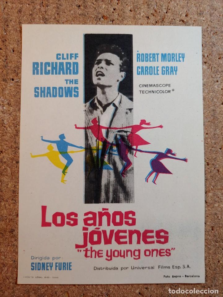 FOLLETO DE MANO DE LA PELICULA LOS AÑOS JOVENES (Cine - Folletos de Mano - Musicales)
