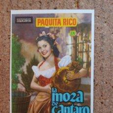 Cine: FOLLETO DE MANO DE LA PELICULA LA MOZA DE CANTARO. Lote 238797045