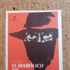 Cine: FOLLETO DE MANO DE LA PELICULA CUATRO EL DIABOLICO DR. MABUSE. Lote 238807540