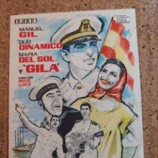 Foglietti di film di film antichi di cinema: FOLLETO DE MANO DE LA PELICULA BOTON DE ANCLA. Lote 238852565