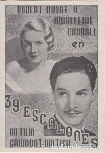 39 ESCALONES (CON PUBLICIDAD) (Cine - Folletos de Mano - Suspense)