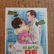 Foglietti di film di film antichi di cinema: FOLLETO DE MANO DE LA PELICULA EL ARTE DE CASARSE. Lote 239401770