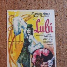 Cine: FOLLETO DE MANO DE LA PELICULA LULU. Lote 239440365