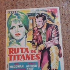 Cine: FOLLETO DE MANO DE LA PELICULA RUTA DE TITANES. Lote 239440715