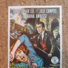 Folhetos de mão de filmes antigos de cinema: FOLLETO DE MANO DE LA PELICULA LA MALDICION DE LOS KARNSTEIN. Lote 239613880