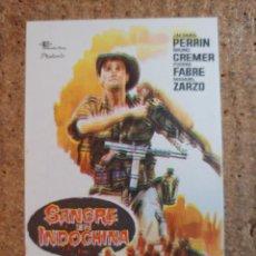 Cine: FOLLETO DE MANO DE LA PELICULA SANGRE EN INDOCHINA. Lote 239614590
