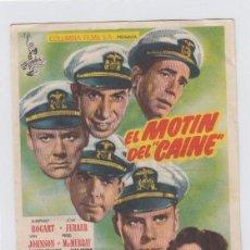 Flyers Publicitaires de films Anciens: EL MOTÍN DEL CAINE. PROGRAMA DE CINE SENCILLO CON PUBLICIDAD. CINE GADES. CÁDIZ.. Lote 239665980