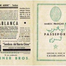 Cine: PROGRAMA PASAPORTE DEL FILM CASABLANCA-INGRID BERGMAN (1947). Lote 237401340