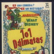 Foglietti di film di film antichi di cinema: P-9277- 101 DÁLMATAS (ONE HUNDRED AND ONE DALMATIANS (101 DALMATIANS)). Lote 239801175