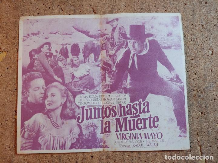 Cine: FOLLETO DE MANO DOBLE DE LA PELICULA JUNTOS HASTA LA MUERTE - Foto 2 - 239840070