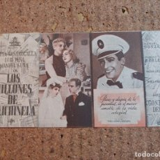 Cine: FOLLETO DE MANO DOBLE DE LA PELICULA LOS MILLONES DE POLICHINELA. Lote 239845815