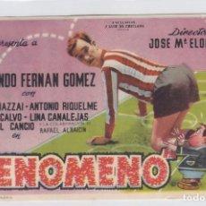 Foglietti di film di film antichi di cinema: EL FENÓMENO. PROGRAMA DE CINE SENCILLO CON PUBLICIDAD. CINE GADES. CÁDIZ.. Lote 239892430
