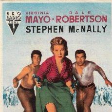 Cine: PN - PROGRAMA DE CINE - NOCHE SALVAJE - VIRGINIA MAYO, DALE ROBERTSON - CINE ECHEGARAY (MÁLAGA) 1953. Lote 257506990