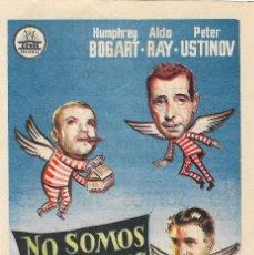 Flyers Publicitaires de films Anciens: PN - PROGRAMA DE CINE - NO SOMOS ÁNGELES - HUMPHREY BOGART - CINE ECHEGARAY (MÁLAGA) - 1961.. Lote 239973355