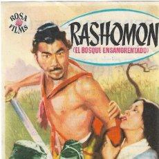 Flyers Publicitaires de films Anciens: PN - PROGRAMA DE CINE - RASHOMON - TOSHIRO MIFUNE - PRINCIPAL CINEMA (MÁLAGA) - 1955.. Lote 240181250