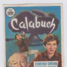 Foglietti di film di film antichi di cinema: CALABUCH. PROGRAMA DE CINE SENCILLO CON PUBLICIDAD. CINE GADES. CÁDIZ.. Lote 240207190