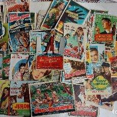 Flyers Publicitaires de films Anciens: T-537.- LOTE DE -- 68 -- PROGRAMAS DE CINE , AÑOS 50- TODOS CON PUBLICIDAD EN EL REVERSO, VER FOTOS. Lote 240650860