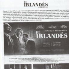 Cine: 10120A -FOLLETO DE CINE DEL FILM: EL IRLANDES DE MARTIN SCORSESE. Lote 240717070