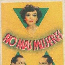Cine: NO MÁS MUJERES (CON PUBLICIDAD). Lote 240732640