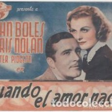 Cine: CUANDO EL AMOR NACE. Lote 240734430