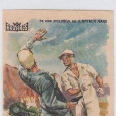 Flyers Publicitaires de films Anciens: SANGRE EN EL ASFALTO. PROGRAMA DE CINE SENCILLO CON PUBLICIDAD. CINE GADES. CÁDIZ.. Lote 240926425