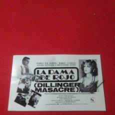 Cine: PROGRAMA DE CINE ,(LA DAMA DE ROJO )PELICULA DE SUSPENSE , PROTAGONIZADA POR PAMELA SUE MARTIN ,. Lote 240985875