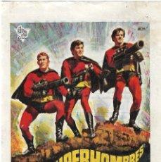 Foglietti di film di film antichi di cinema: PN - PROGRAMA DE CINE - 3 SUPERHOMBRES - TONY KENDALL, BRAD HARRIS - CINE CAPITOL (MÁLAGA) - 1970.. Lote 241019455