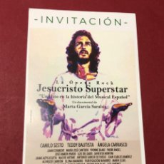 Cine: TARJETA INVITACION ESTRENO EXCLUSIVO DOCUMENTAL OPERA ROCK JESUCRISTO SUPERSTAR. Lote 241147670