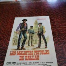 Folhetos de mão de filmes antigos de cinema: PROGRAMA DE MANO ORIG - LAS MALDITAS PISTOLAS DE DALLAS - SIN CINE IMPRESO AL DORSO. Lote 241188970