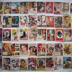 Flyers Publicitaires de films Anciens: 50 PROGRAMAS SURTIDOS. LOTE Nº S-40 (SIN IMPRESIÓN EN EL REVERSO).. Lote 241461210