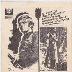 Folhetos de mão de filmes antigos de cinema: EL VALLE DEL FUGITIVO (CON PUBLICIDAD). Lote 241823420