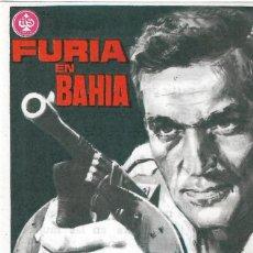 Flyers Publicitaires de films Anciens: PN - PROGRAMA DE CINE - FURIA EN BAHÍA - FREDERICK STAFFORD - CINE AVENIDA (VILLENA) - 1965.. Lote 241859065