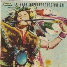 Cine: PN - PROGRAMA DE CINE - CONTINENTE PERDIDO - LEONARDO BONZI - CINE PALAFOX (ZARAGAOZA) - 1955.. Lote 257504060
