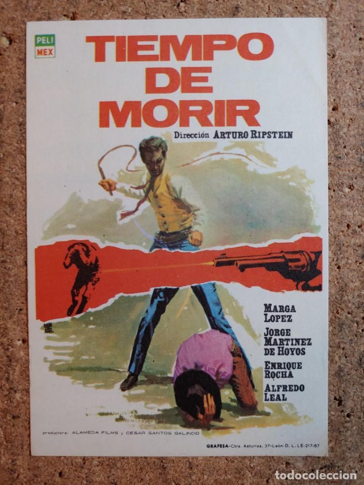 FOLLETO DE MANO DE LA PELICULA TIEMPO DE MORIR (Cine - Folletos de Mano - Westerns)