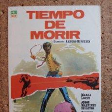 Cine: FOLLETO DE MANO DE LA PELICULA TIEMPO DE MORIR. Lote 241935795