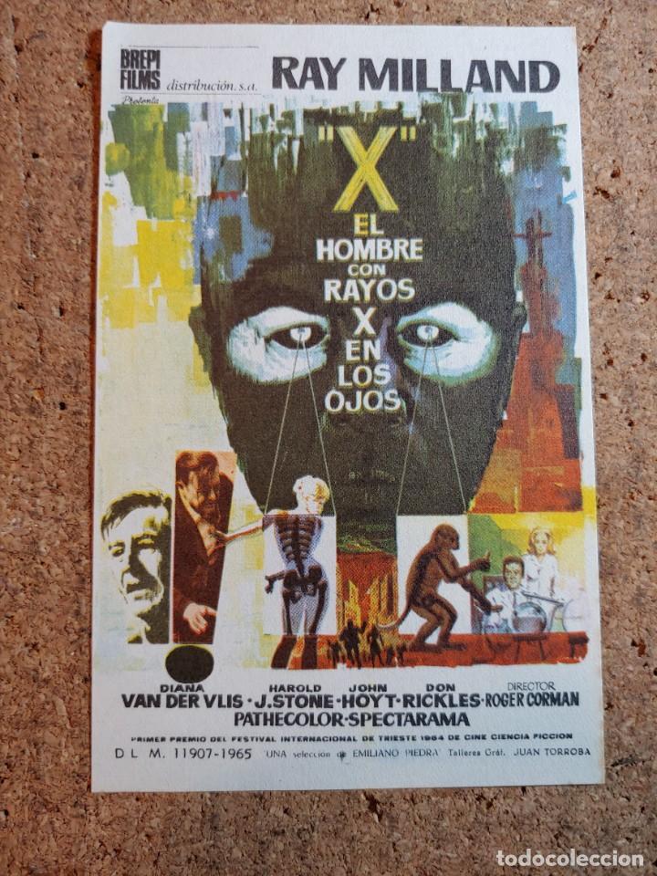 FOLLETO DE MANO DE LA PELICULA EL HOMBRE DE LOS RAYOS X EN LOS OJOS (Cine - Folletos de Mano - Ciencia Ficción)