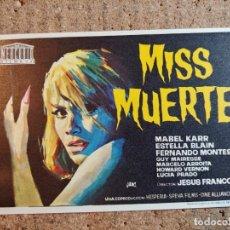 Folhetos de mão de filmes antigos de cinema: FOLLETO DE MANO DE LA PELICULA MISS MUERTE. Lote 241945460