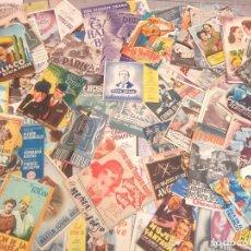 Flyers Publicitaires de films Anciens: LOTE ANTIGUOS PROGRAMAS DE CINE DOBLES.GRAN MAYORIA MUY BUEN ESTADO.106.FOLLETOS DE MANO DE CINE. Lote 241946115