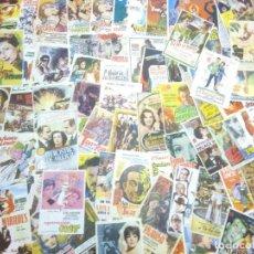 Flyers Publicitaires de films Anciens: LOTE ANTIGUOS PROGRAMAS DE CINE.GRAN MAYORIA MUY BUEN ESTADO.100.FOLLETOS DE MANO DE CINE. Lote 241951990