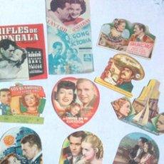 Flyers Publicitaires de films Anciens: ANTIGUOS PROGRAMAS DE CINE TROQUELADOS.MUY BUEN ESTADO.10.FOLLETOS DE MANO DE CINE TROQUELADOS. Lote 241956820