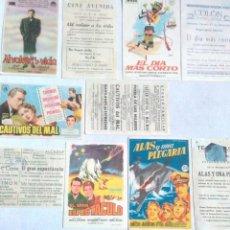Flyers Publicitaires de films Anciens: ANTIGUOS PROGRAMAS D CINE IGUALES IMPRESOS Y NO IMPRESOS.MUY BUEN ESTADO.12.FOLLETOS DE MANO DE CINE. Lote 241960240