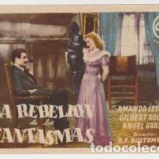 Foglietti di film di film antichi di cinema: LA REBELIÓN DE LOS FANTASMAS (CON PUBLICIDAD). Lote 242000900