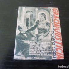 Flyers Publicitaires de films Anciens: PROGRAMA DE CINE IMPRESO EN LA PARTE TRASERA. Lote 242045370
