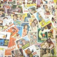 Flyers Publicitaires de films Anciens: LOTE ANTIGUOS PROGRAMAS DE CINE.GRAN MAYORIA MUY BUEN ESTADO.77 FOLLETOS DE MANO DE CINE. Lote 242046225