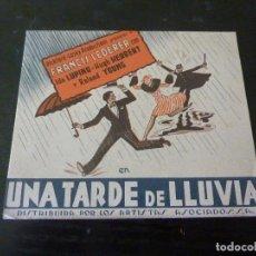 Flyers Publicitaires de films Anciens: PROGRAMA DE CINE IMPRESO EN LA PARTE TRASERA. Lote 242046250