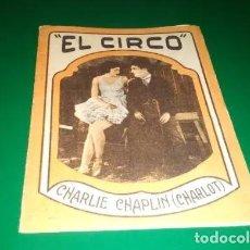 Flyers Publicitaires de films Anciens: RESERVADO. ANTIGUO PROGRAMA DE CINE MUDO. EL CIRCO. POR CHARLOT, EN FORMA DE LIBRITO. AÑOS 20.. Lote 242081360
