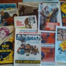 Flyers Publicitaires de films Anciens: PROGRAMAS DE MANO ORIGINALES-15 DIFERENTES-ESTRENO -LA BATALLA DE ANZIO-UNA CEBRA EN LA COCINA-... Lote 242110325