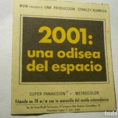 Folhetos de mão de filmes antigos de cinema: PROGRAMA DOBLE 2001 UNA ODISEA DEL ESPACIO -PUBLICIDAD. Lote 242202650