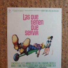 Foglietti di film di film antichi di cinema: FOLLETO DE MANO DE LA PELICULA LAS QUE TIENEN QUE SERVIR. Lote 242280210
