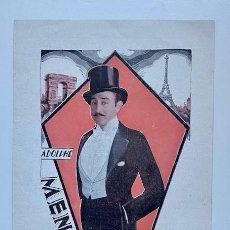 Folhetos de mão de filmes antigos de cinema: UN CABALLERO DE PARIS, DOBLE PARAMOUNT 1927. Lote 242283165